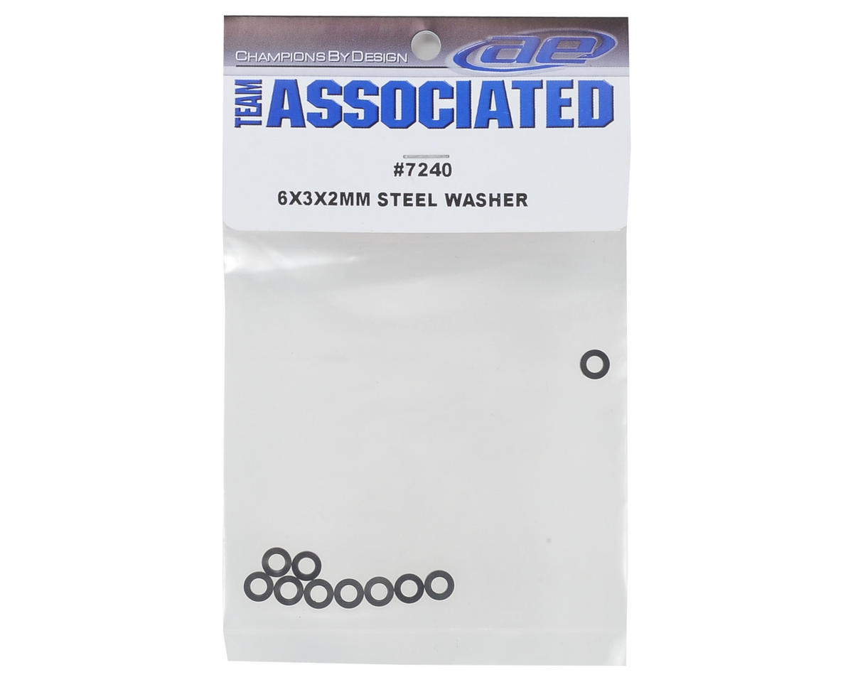 Team Associated 6x3x2mm Steel Washer (10)