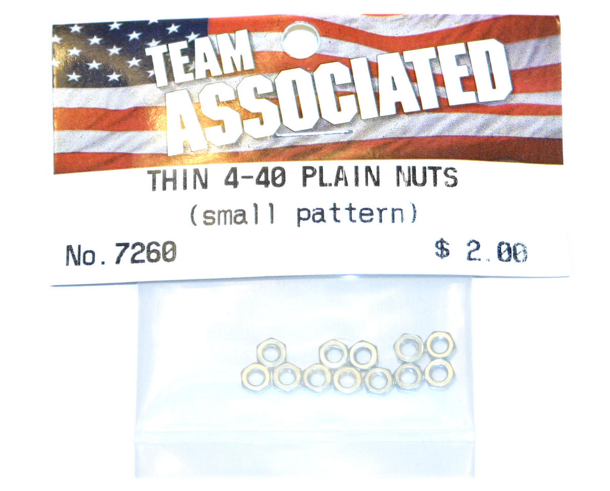 Image 1 for Team Associated Thin Nuts 4-40 (12)