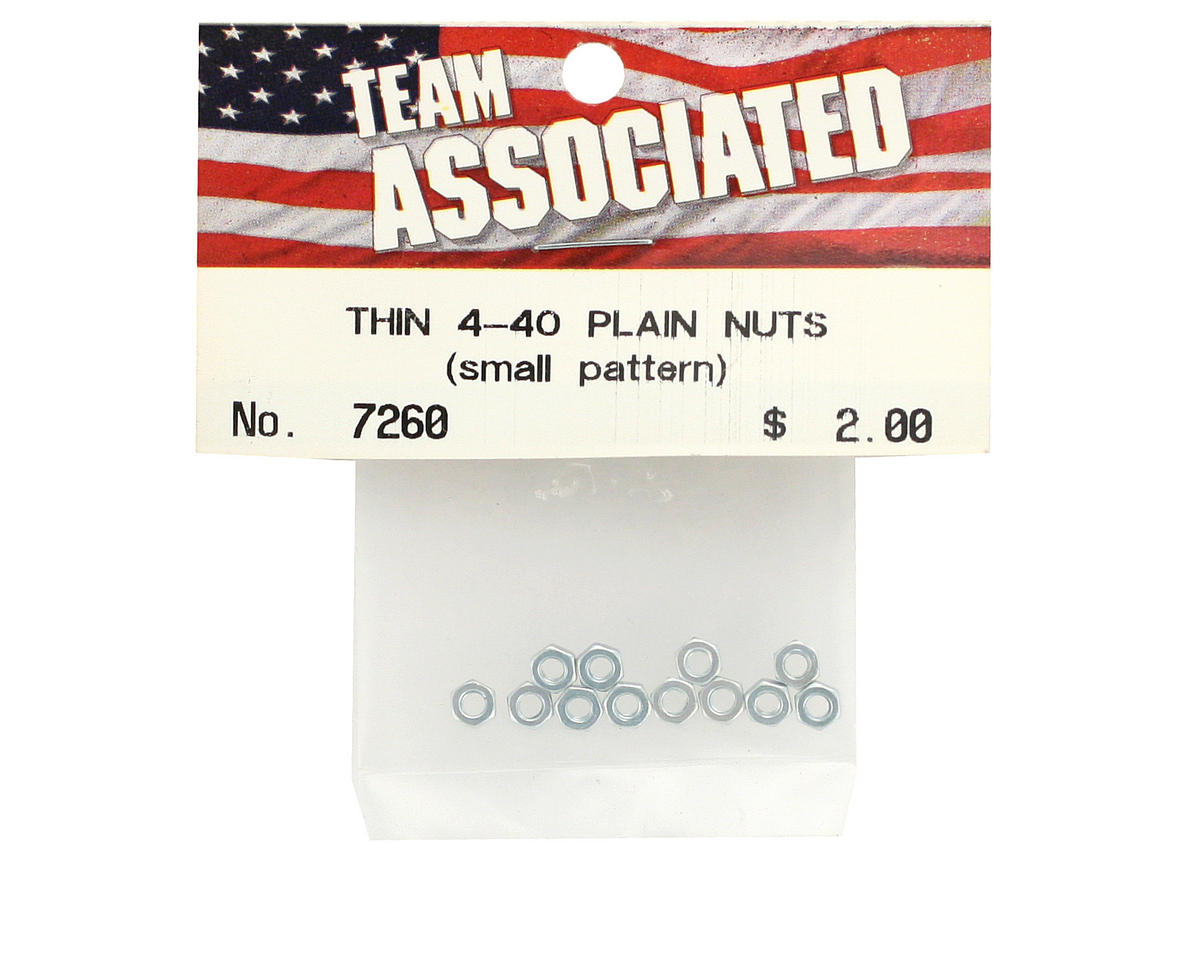 Team Associated Thin Nuts 4-40 (12)