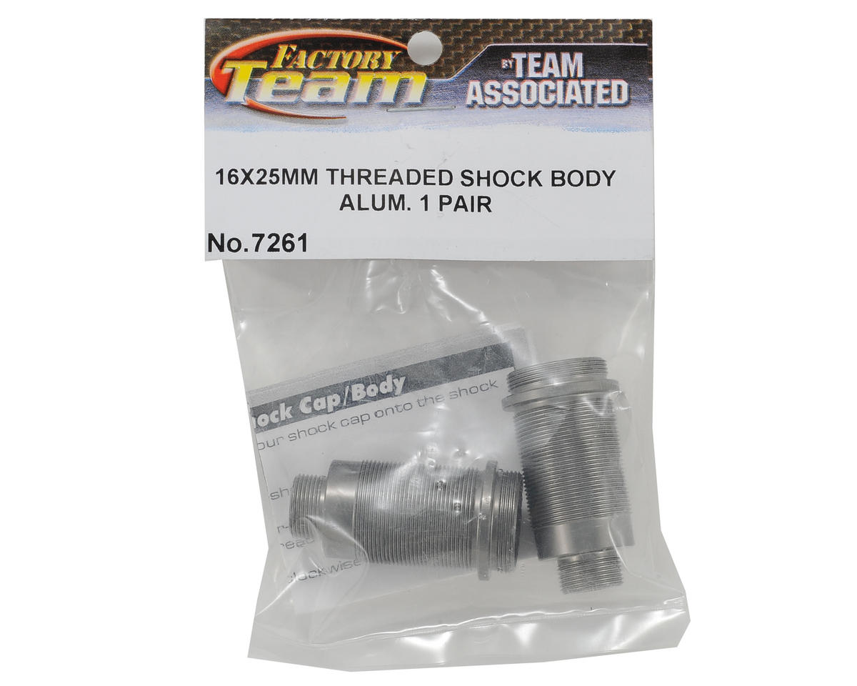 Team Associated Factory Team 16x25mm Aluminum Threaded Shock Bodies (2)
