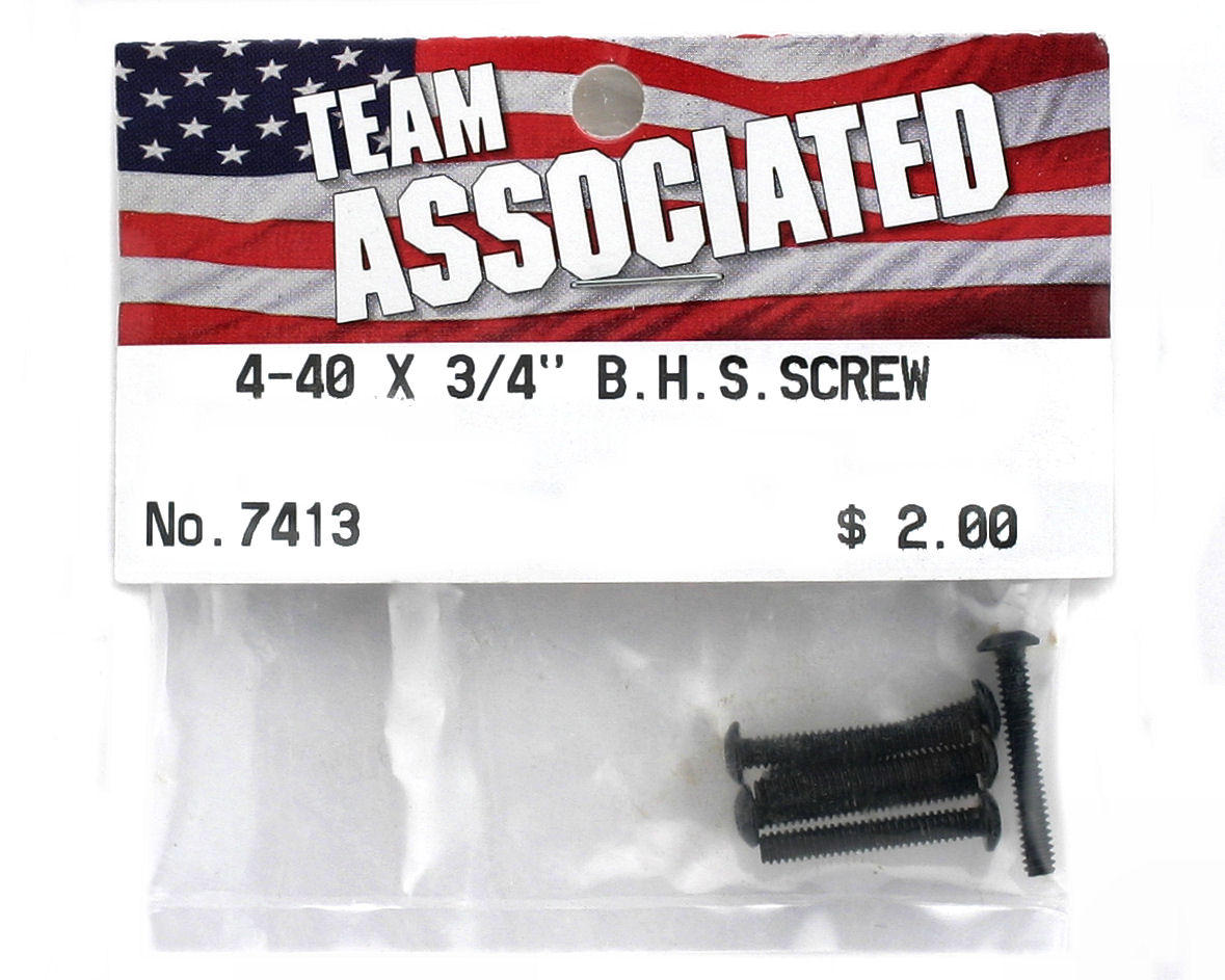 "Team Associated 4-40 x 3/4"" Button Head Screw (6)"