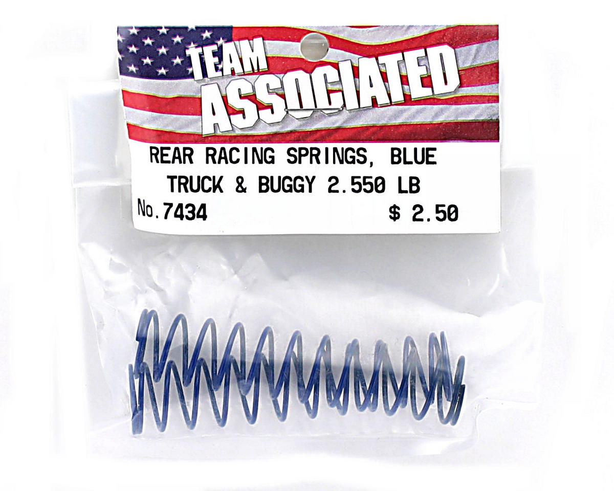 Team Associated Rear Buggy & Truck Shock Spring 2.55lb (Blue) (2)