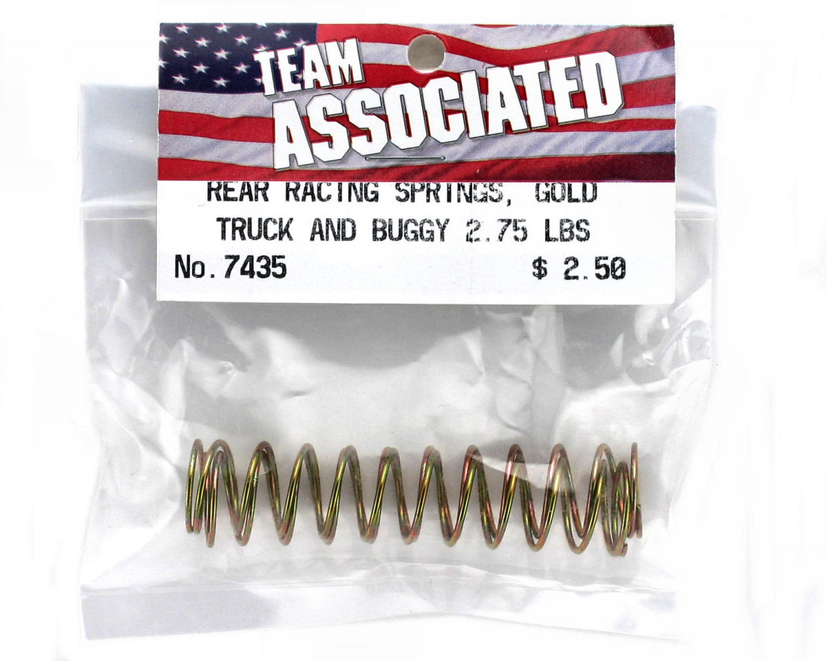 Team Associated Rear Buggy & Truck Shock Spring 2.75lb (Gold) (2)