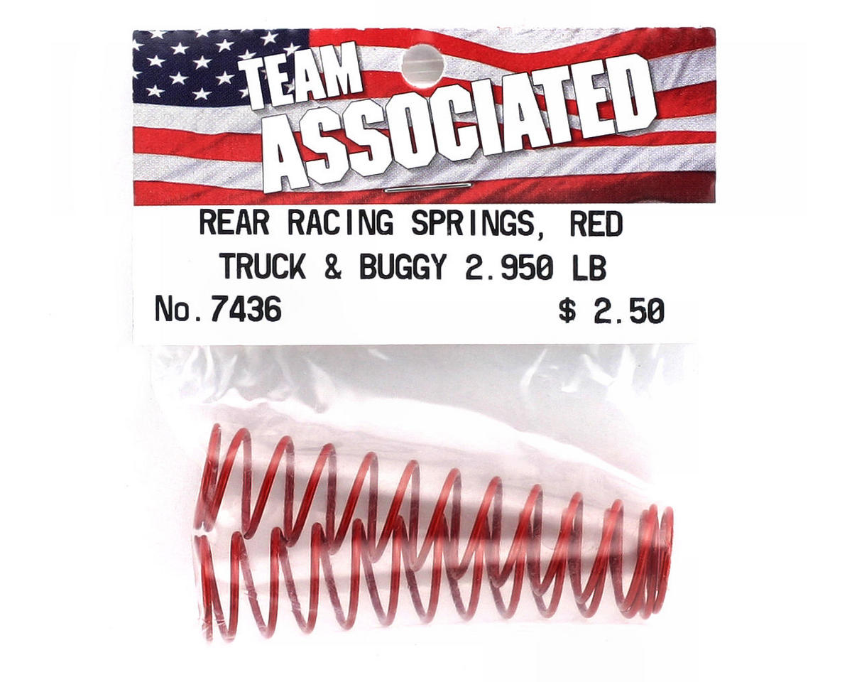 Image 2 for Team Associated Rear Buggy & Truck Shock Spring 2.95lb (Red) (2)