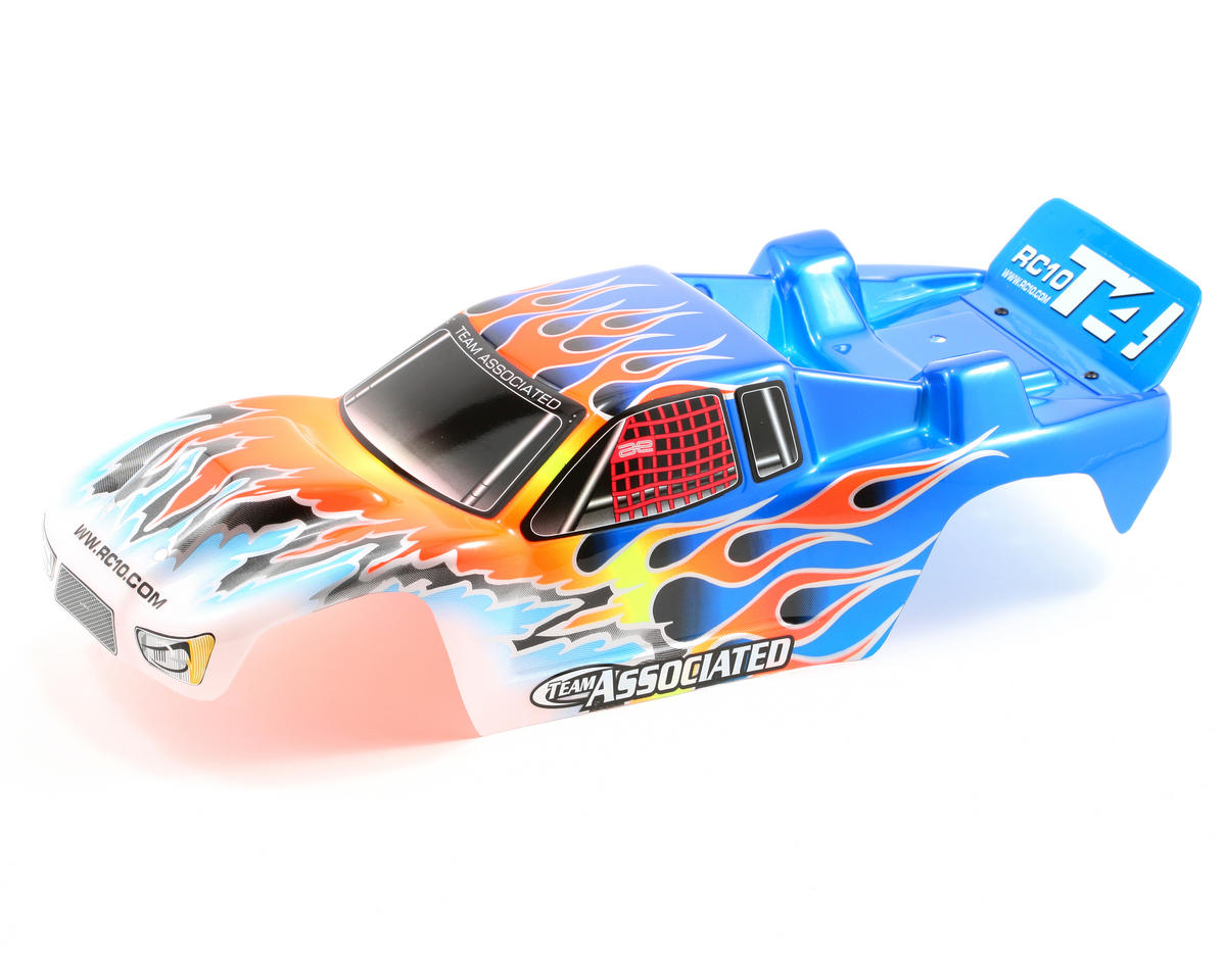 Team Associated Pre-Painted Flames Body (Blue)