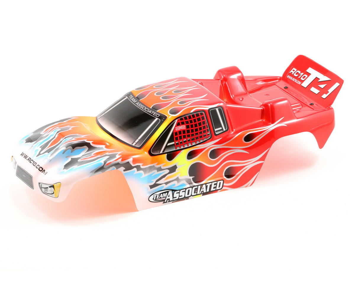 Pre-Painted T4 Flames Body (Red) by Team Associated