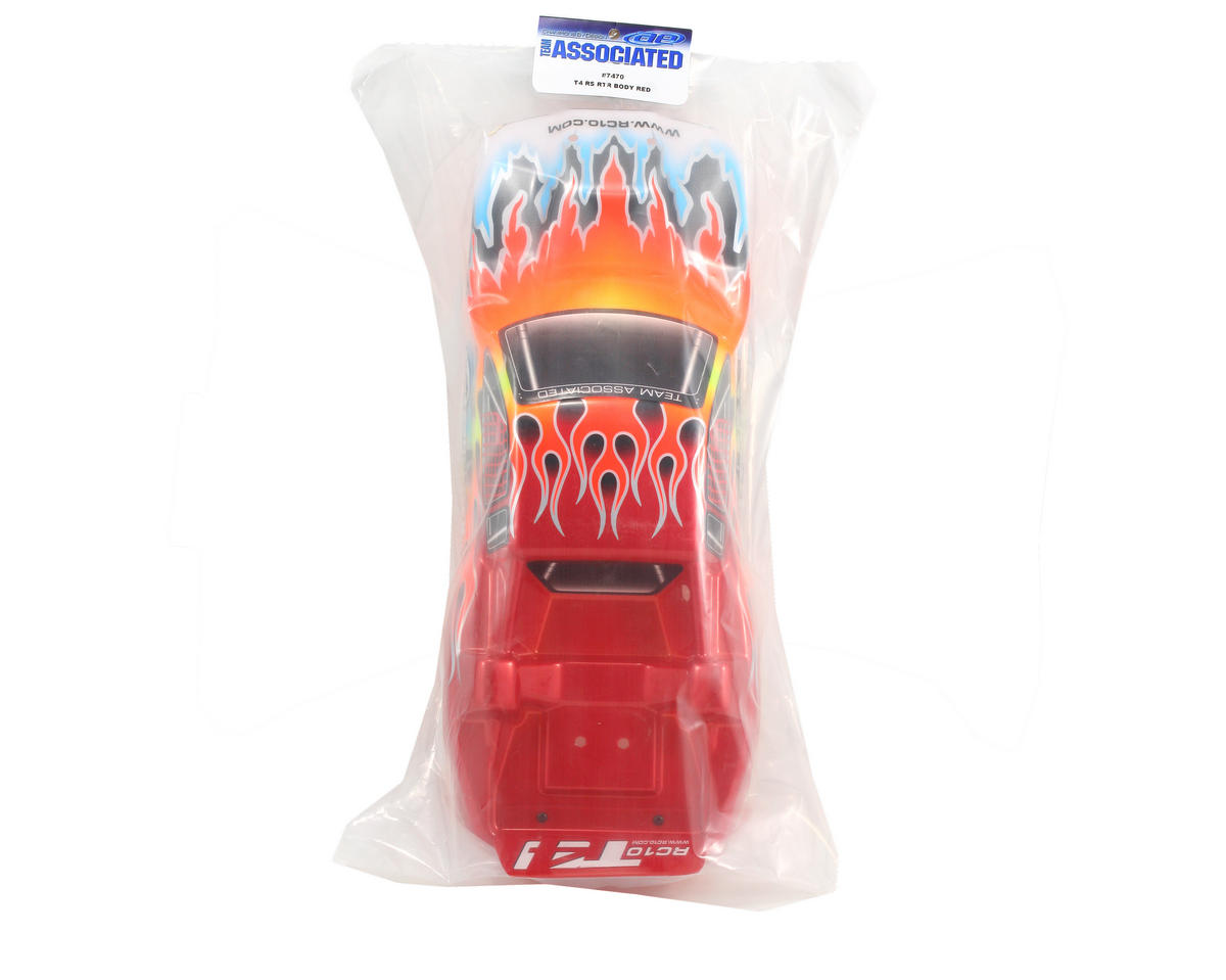 Team Associated Pre-Painted T4 Flames Body (Red)