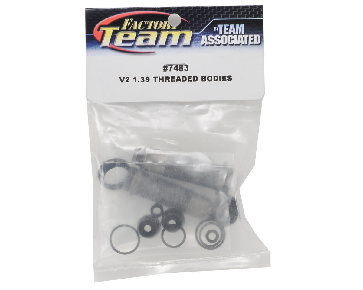 "Team Associated Factory Team ""V2"" 1.39"" Threaded Rear Shock Body Set (2)"