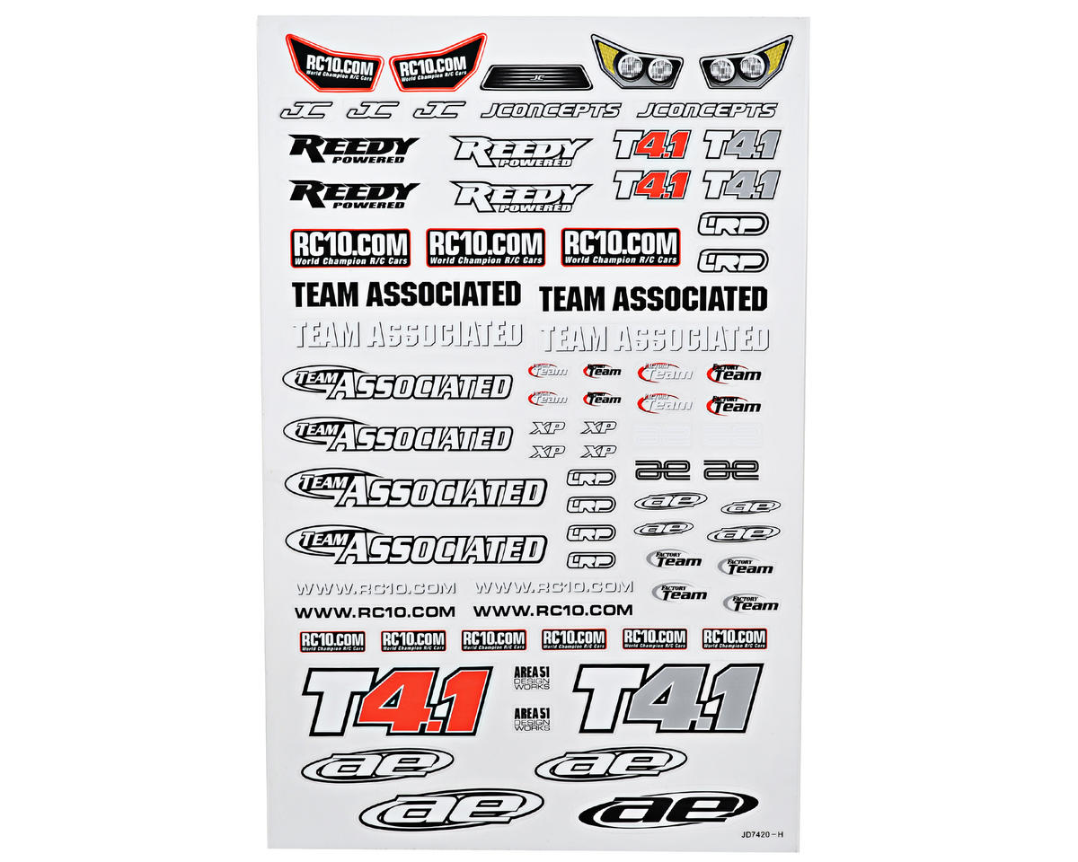 Team Associated T4.1 Decal Sheet