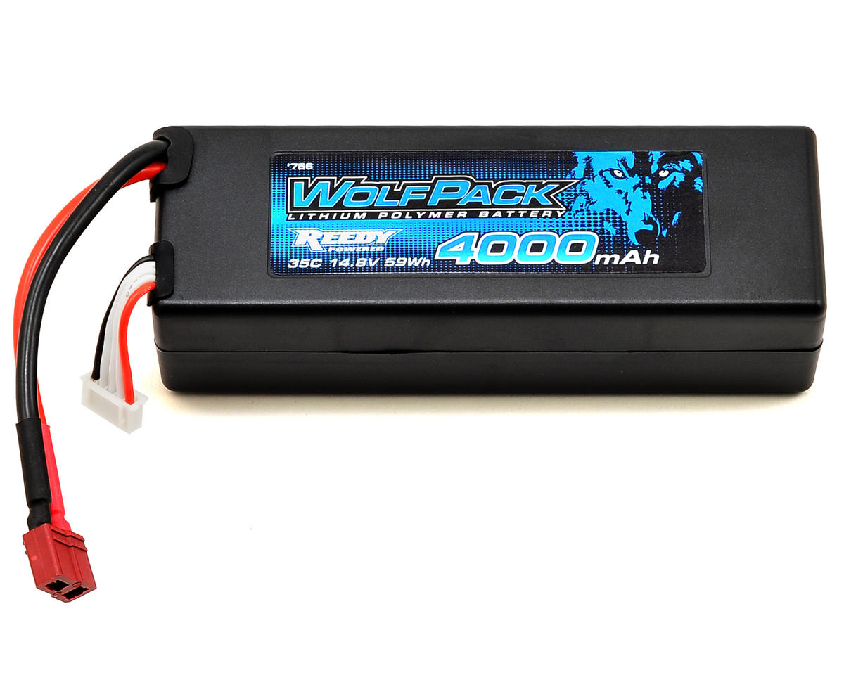 WolfPack Gen2 4S Hard Case LiPo Battery Pack 35C (14.8V/4000mAh) by Reedy