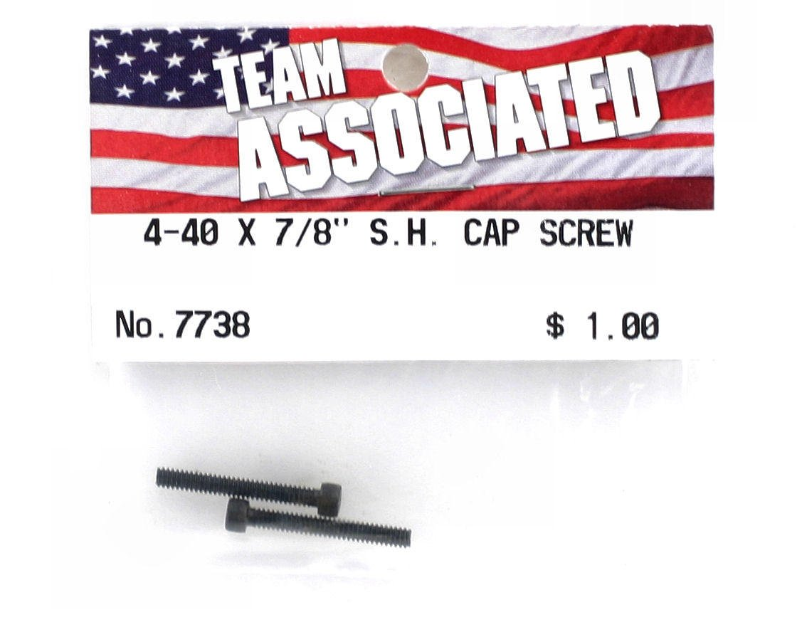 "Image 2 for Team Associated 4-40 x 7/8"" Cap Head Screw (2)"
