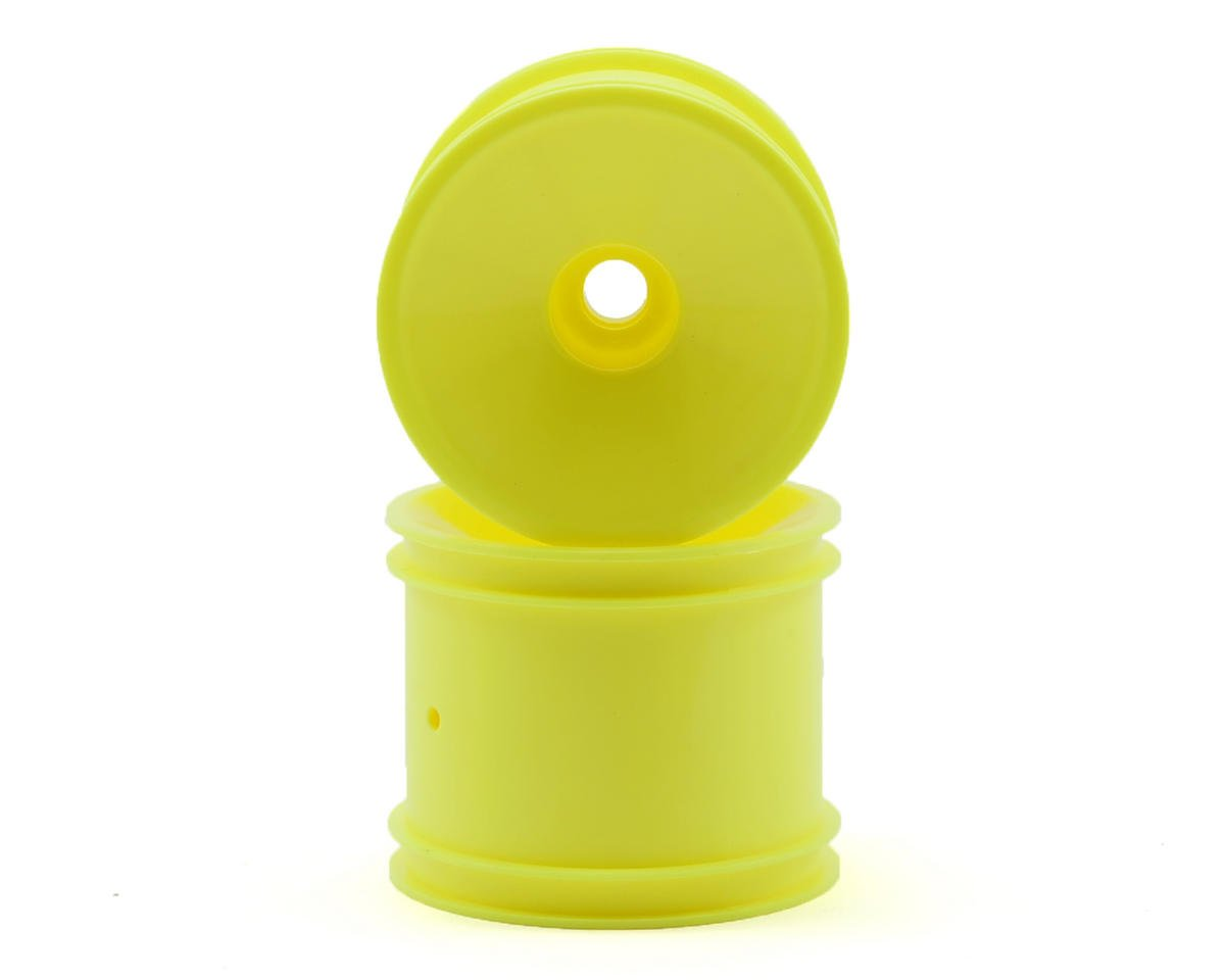 Team Associated Front Stadium Truck Dish Wheel (2) (Yellow) (Pins) (X Factory X-60)
