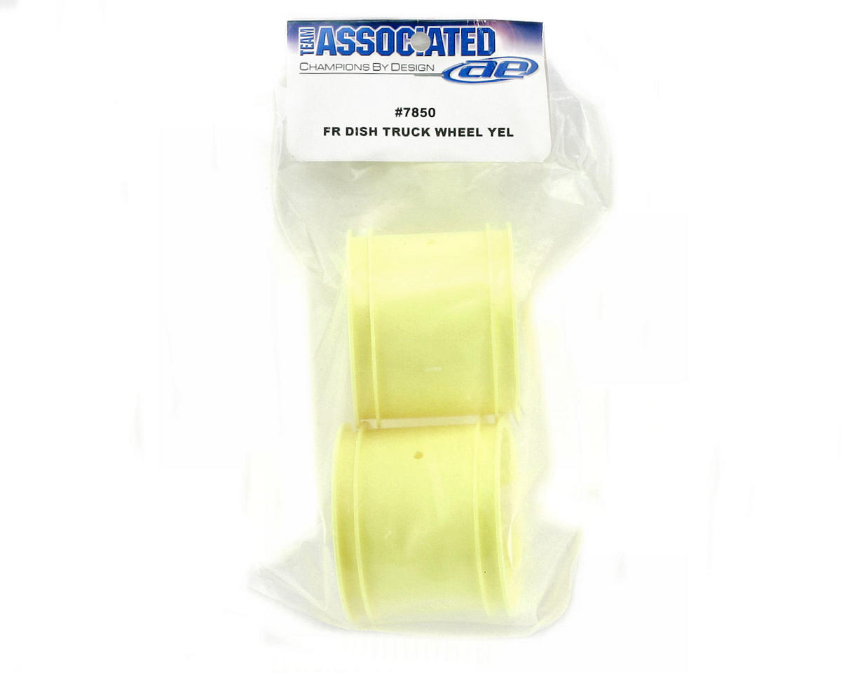 Team Associated Front Stadium Truck Dish Wheel (2) (Yellow) (Pins)