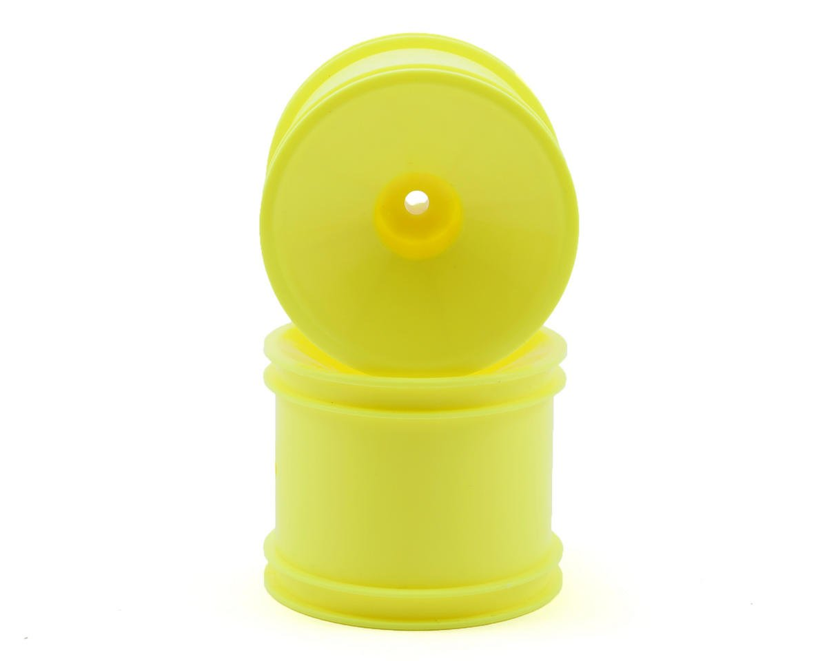 Team Associated RC10 GT2 Rear Stadium Truck Dish Wheel (2) (Yellow) (Pins)