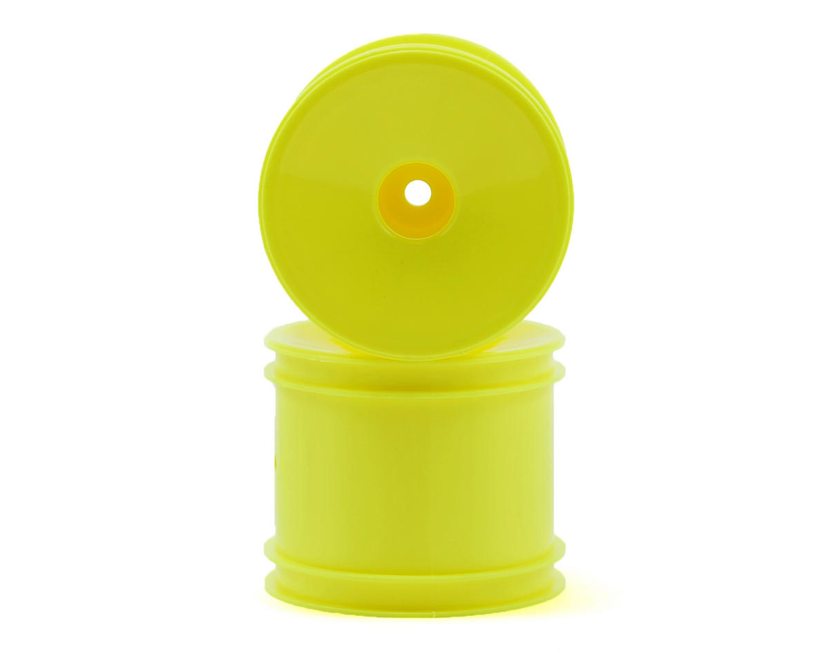 Team Associated RC10 T4 12mm Hex Stadium Truck Dish Wheel (2) (Yellow)