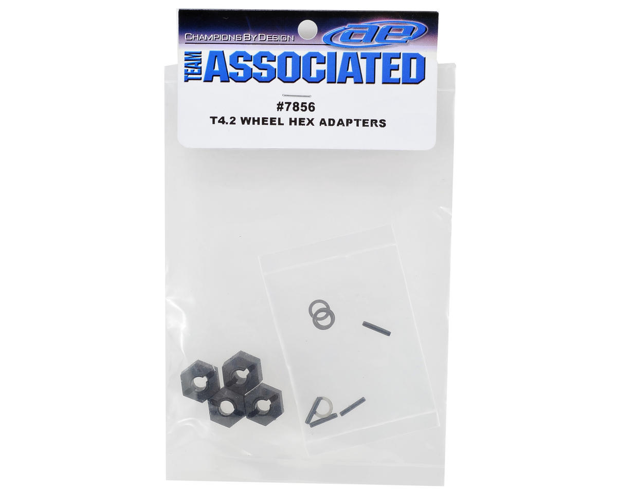 Team Associated T4 Hex Wheel Adapter Set (4)