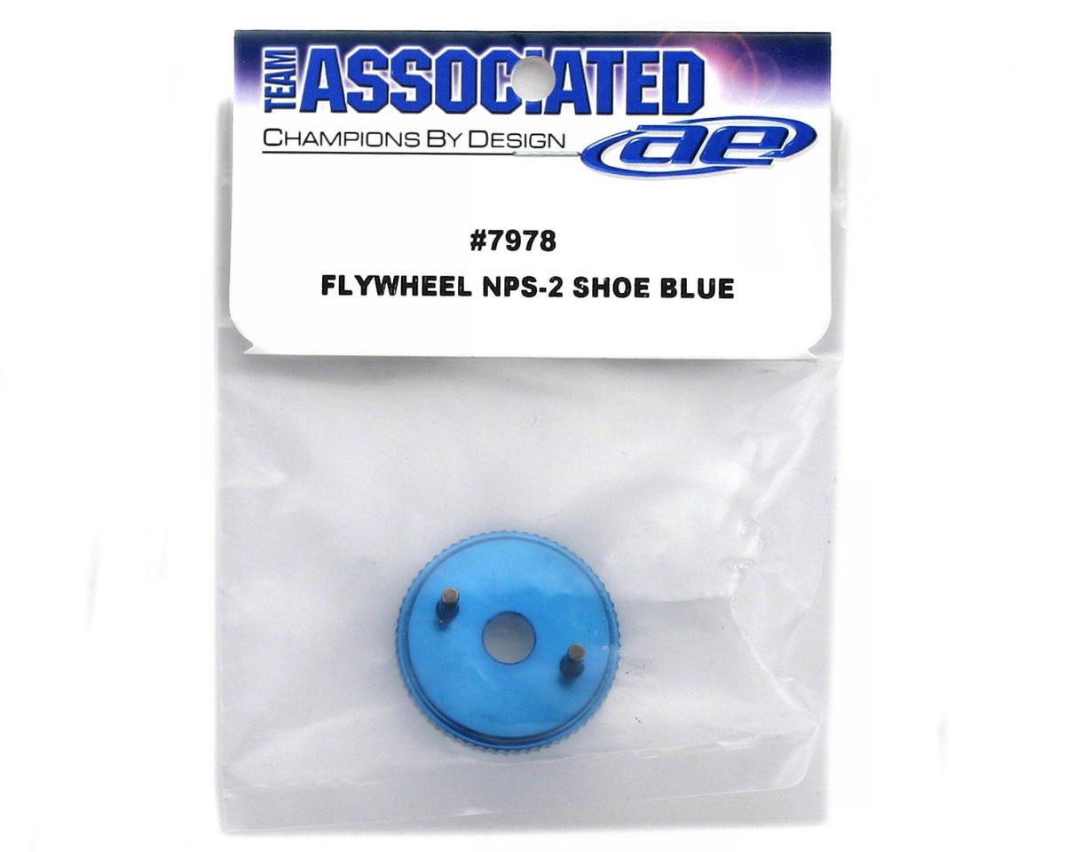 Team Associated Flywheel, Non-Pull Start, 2-Shoe (Blue)