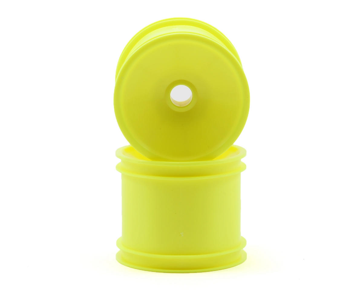 Factory Team Rear Posi-Lock Quick Change Truck Wheel (2-Yellow) by Team Associated