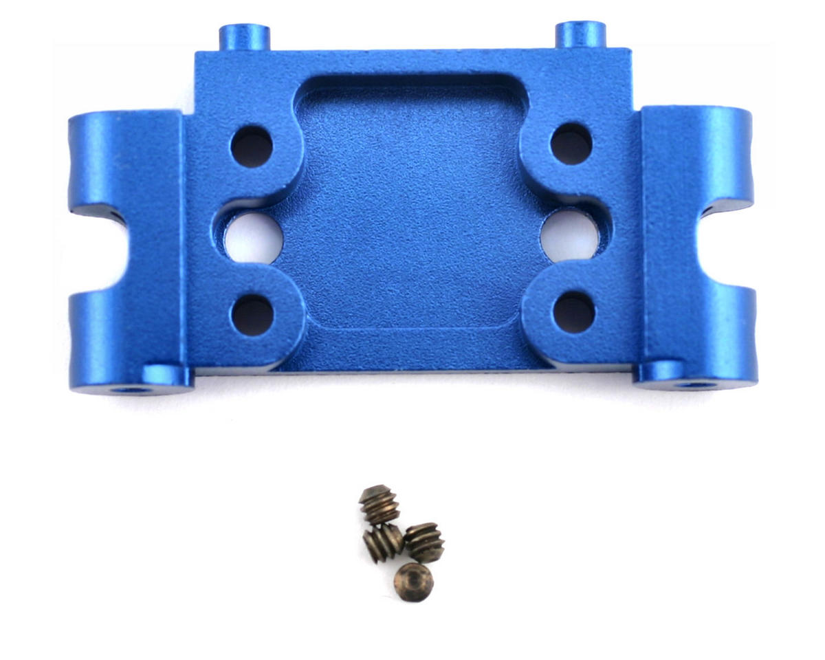 Factory Team Aluminum Front Bulkhead (Blue) by Team Associated