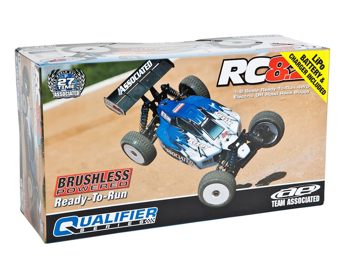 Team Associated RC8.2e Brushless RTR LiPo Combo Blue
