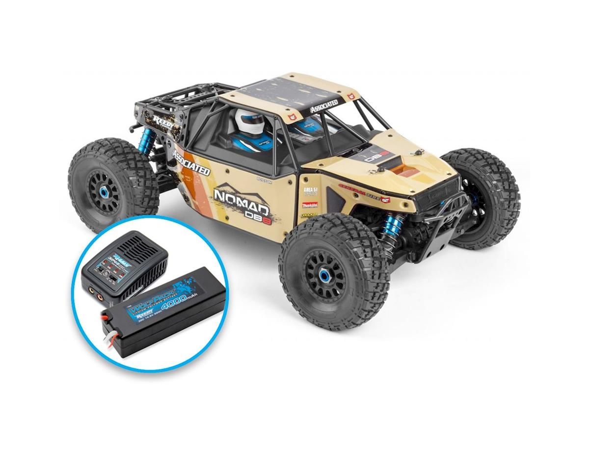 Limited Edition Nomad DB8 RTR LiPo Combo Beige by Team Associated