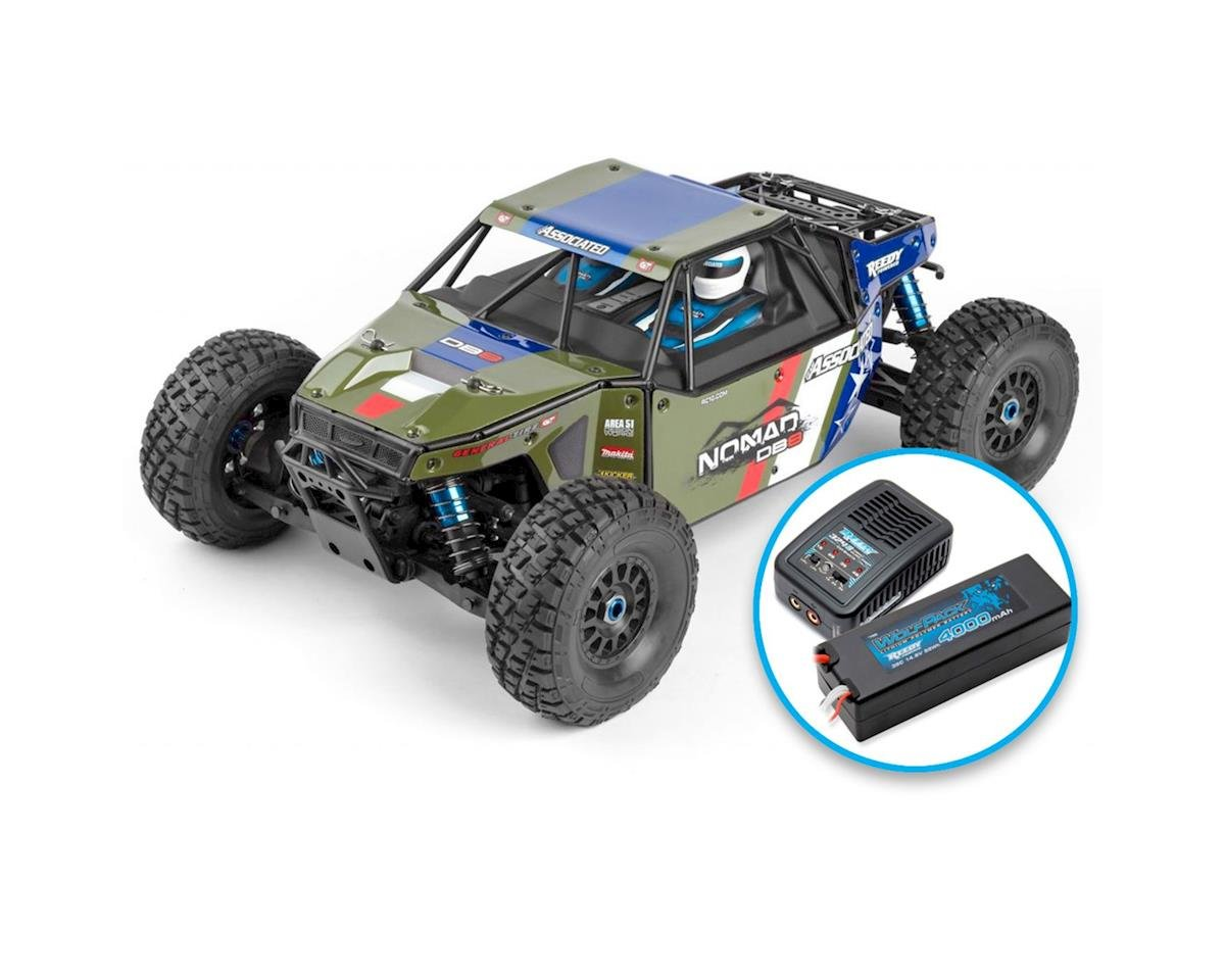 Team Associated Limited Edition Nomad DB8 RTR LiPo Combo Green