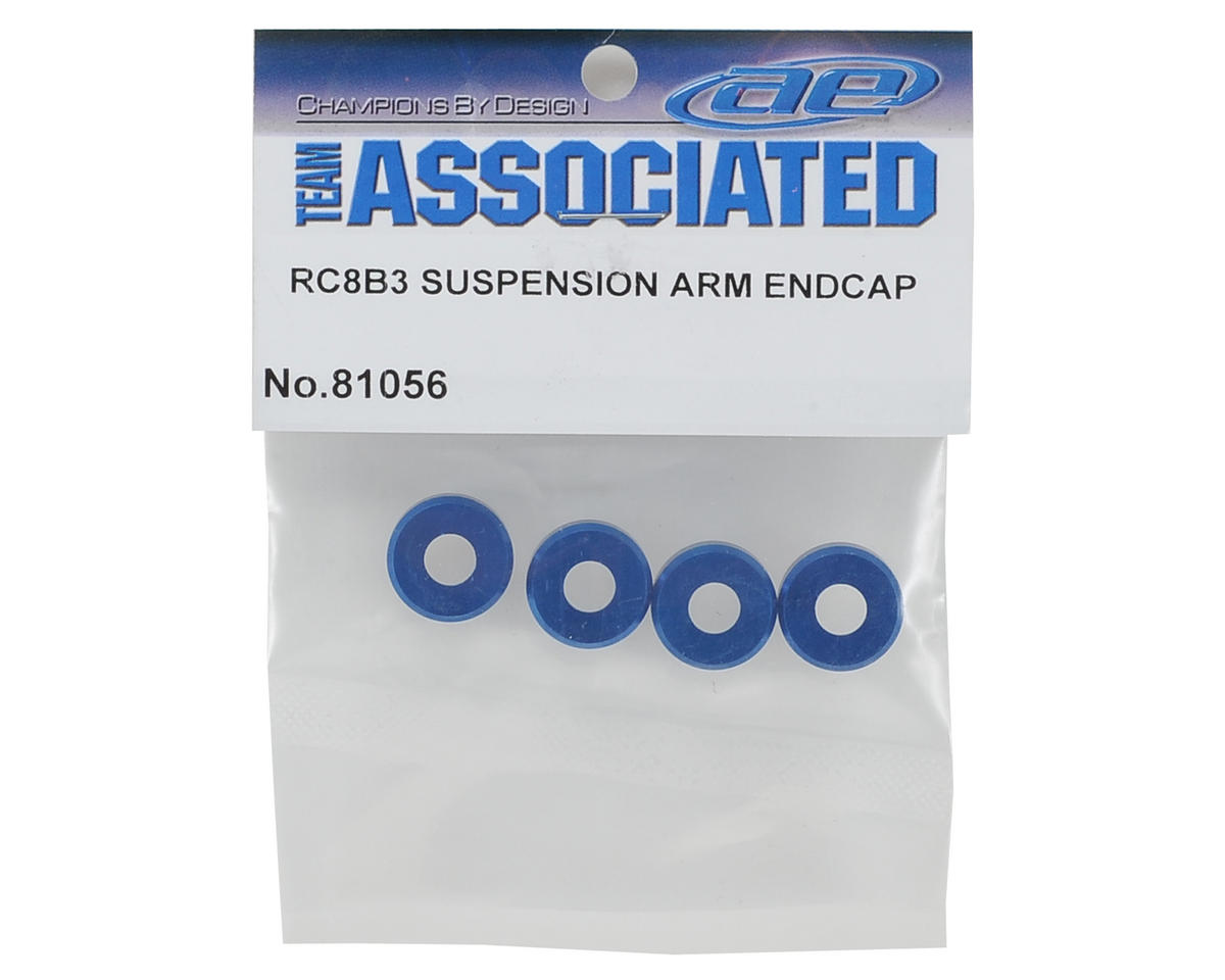 Team Associated Aluminum Suspension Arm End Cap (4)