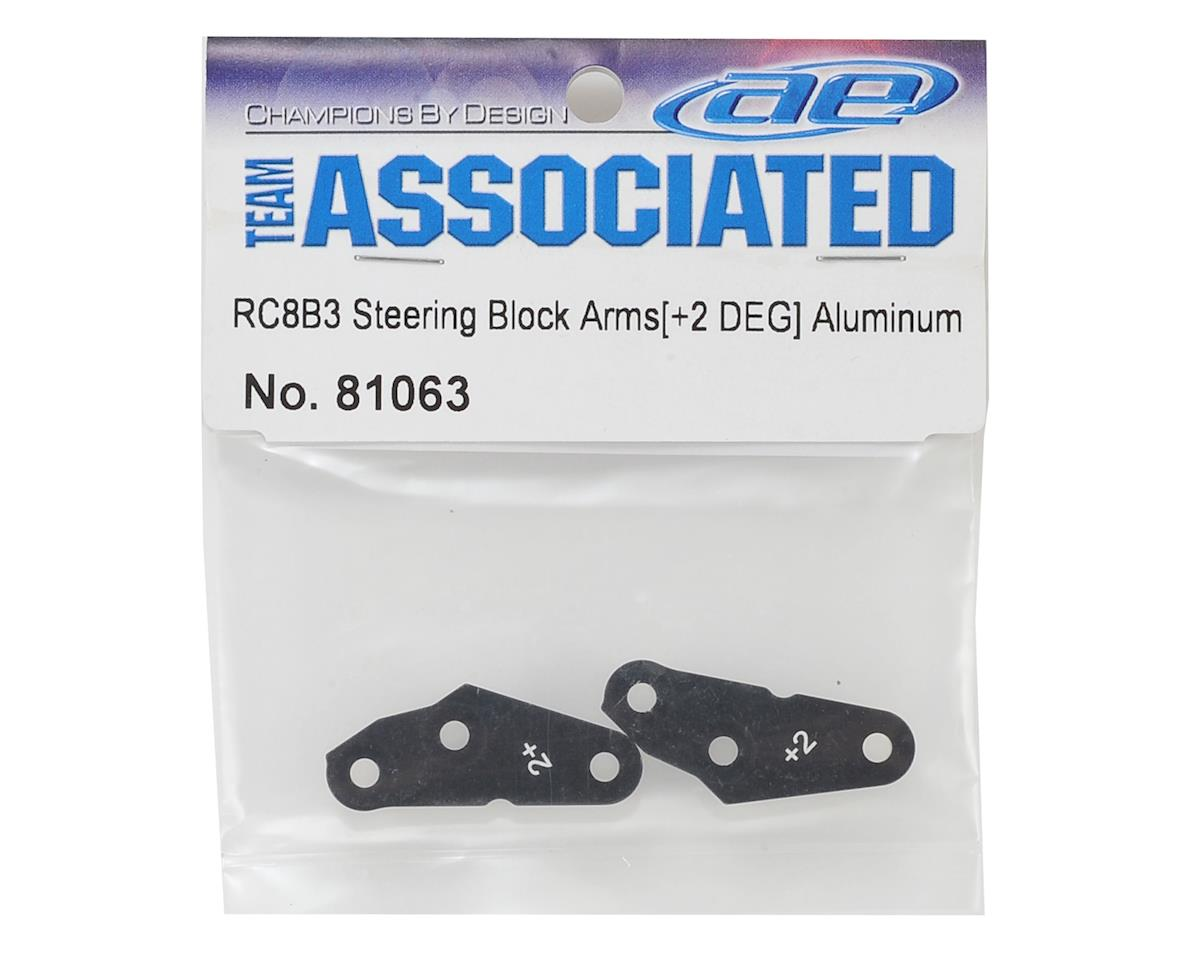 Team Associated RC8B3 Factory Team Aluminum +2 deg Steering Block Arms