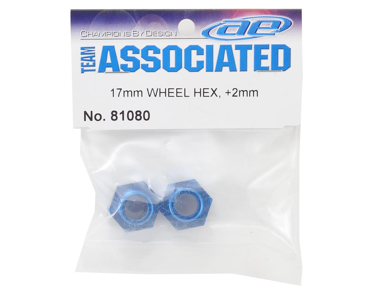 Team Associated RC8B3 +2mm Offset Wheel Hex Set (2)