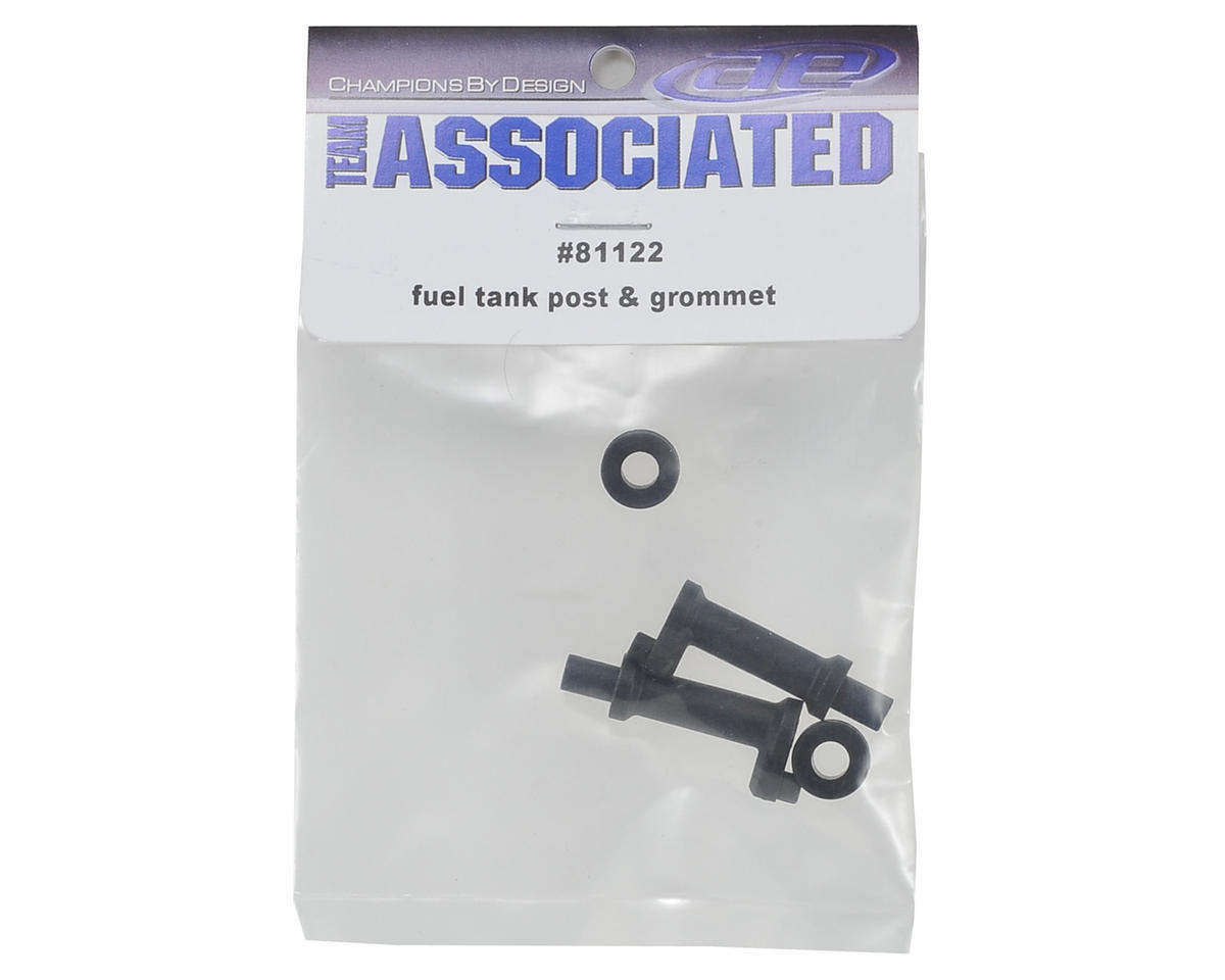 Team Associated Fuel Tank Post w/Rubber Grommet (2)