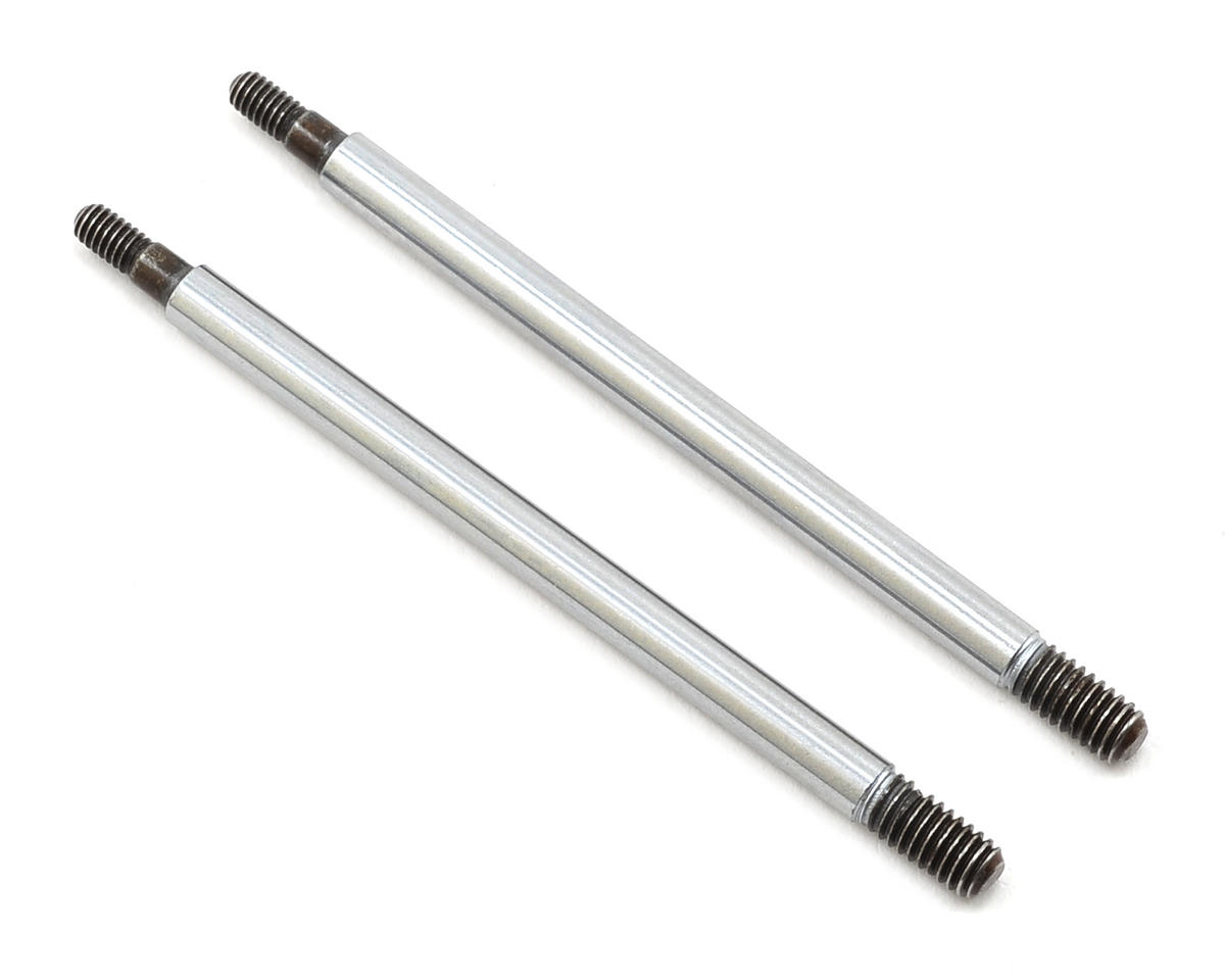 "Team Associated RC8T3.1 33.5mm RC8T3 Factory ""Chrome Finish"" Front Shock Shaft (2)"