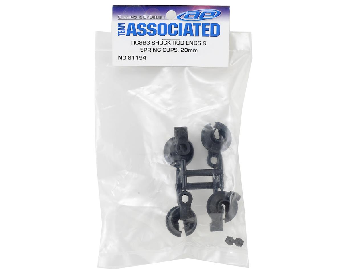 20mm Shock Rod End & Spring Cup Set (4) by Team Associated