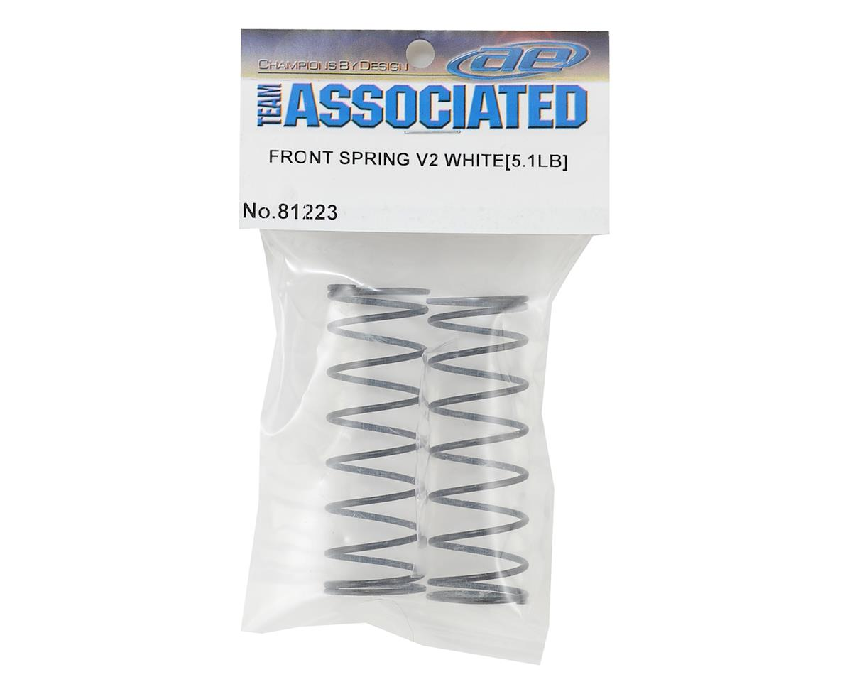 Team Associated RC8B3.1 Front V2 Shock Spring Set (White - 5.1lb/in) (2)