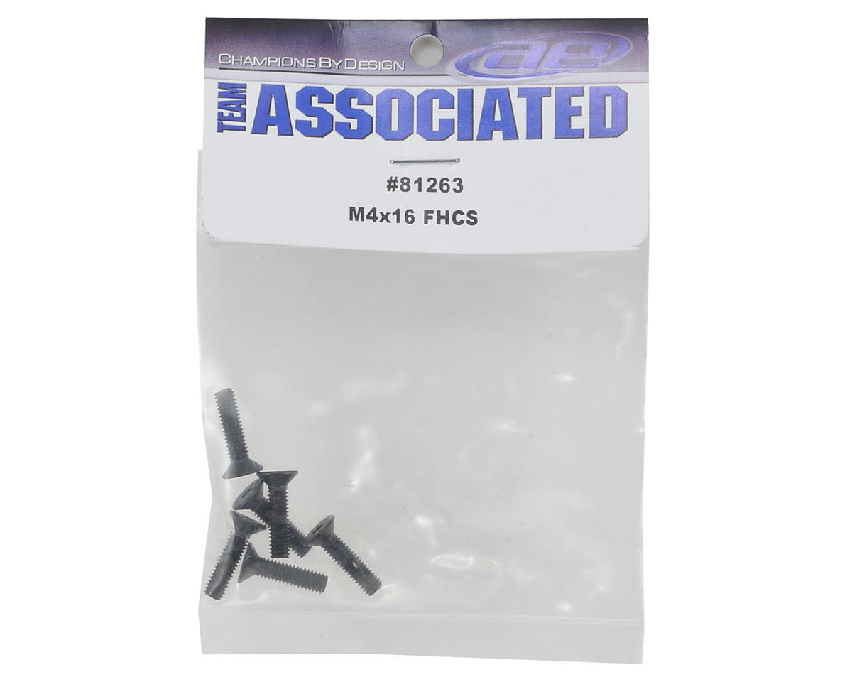 Team Associated 4x16mm Flat Head Hex Screw (6)