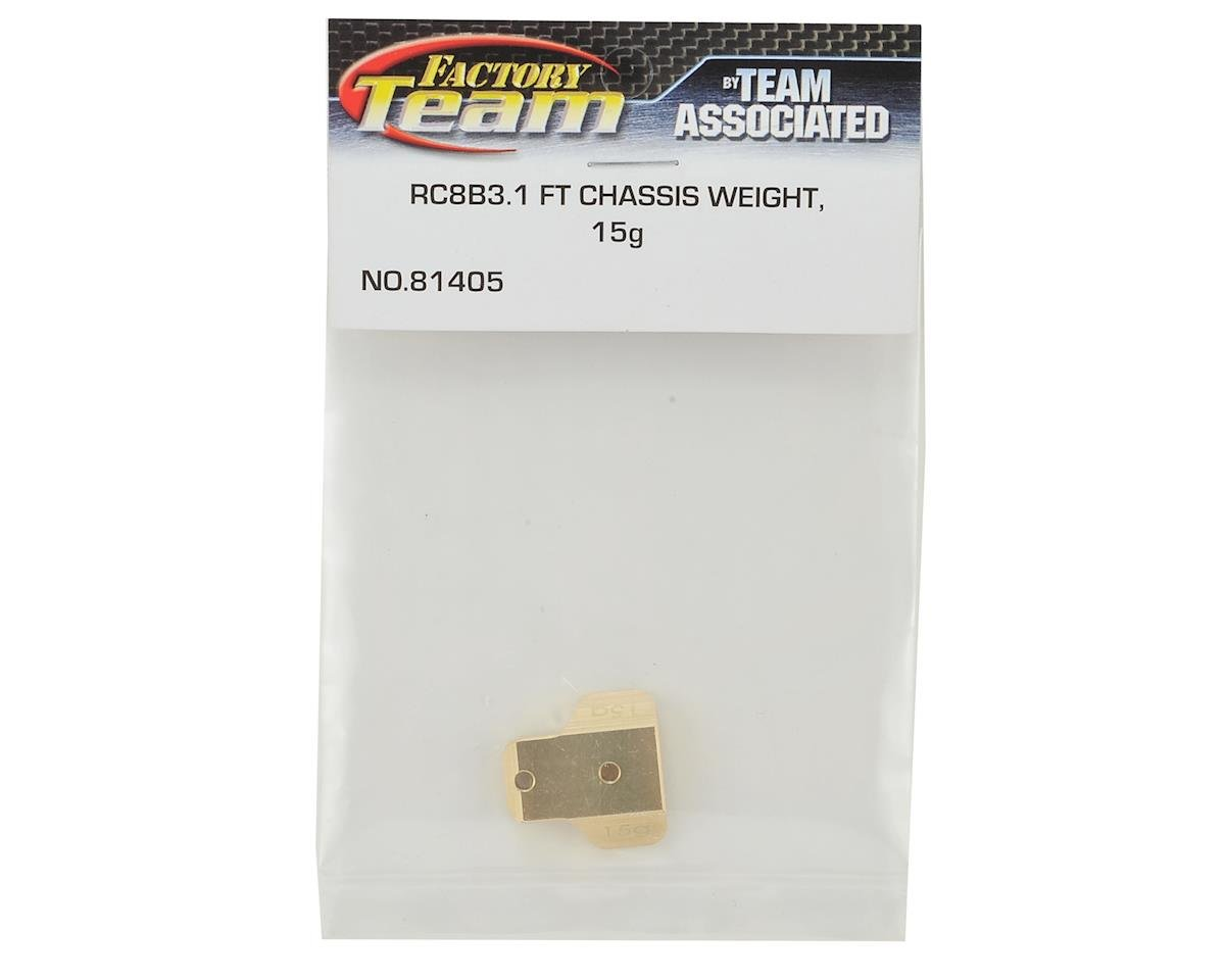Team Associated RC8B3 Factory Team Brass Chassis Weight (15g)