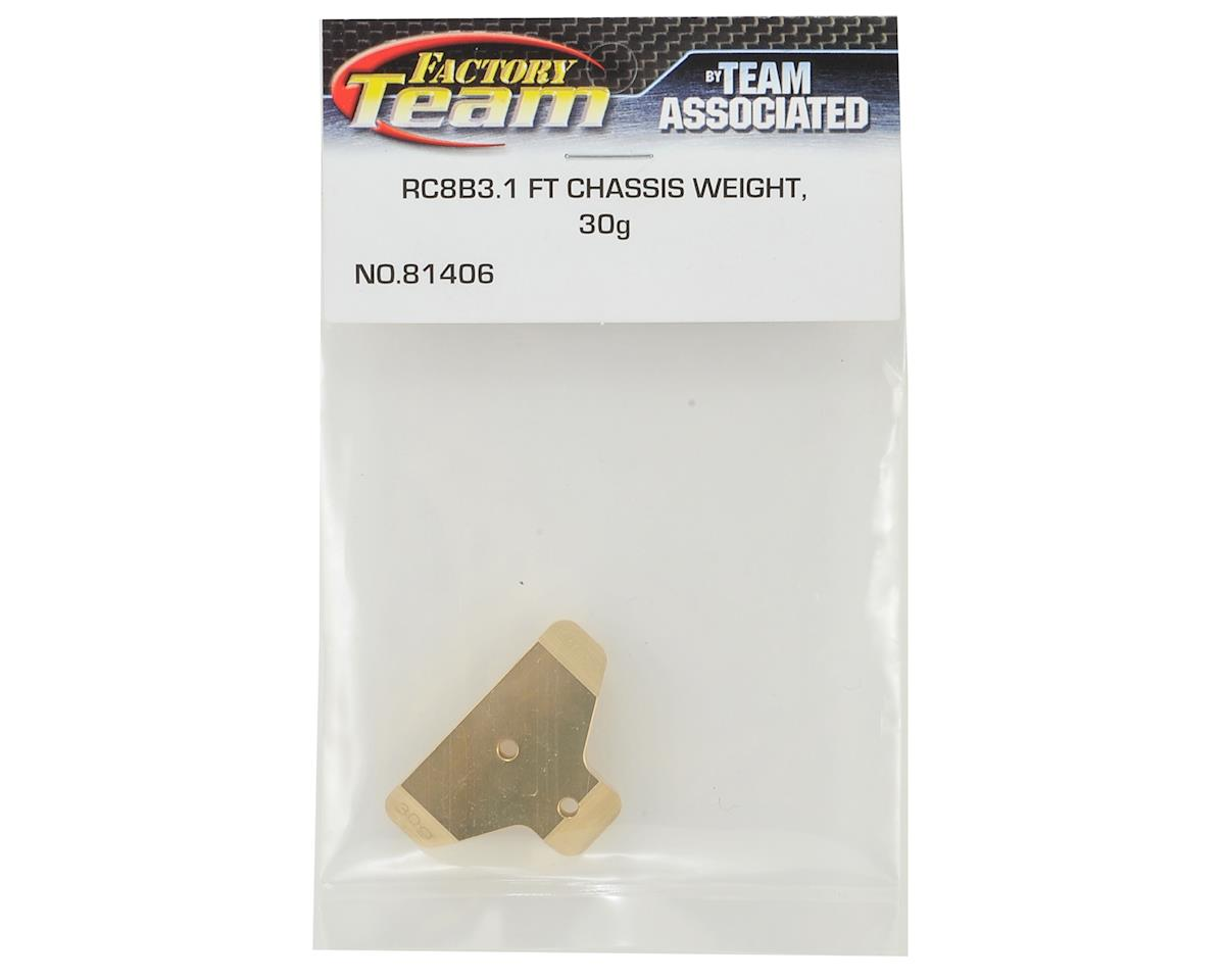 Team Associated RC8B3 Factory Team Brass Chassis Weight (30g)
