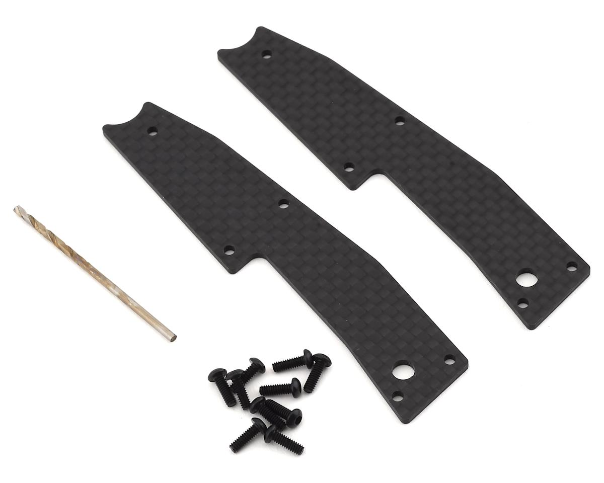 Team Associated RC8T3.1 Factory Team Graphite Front Upper Arm Stiffeners