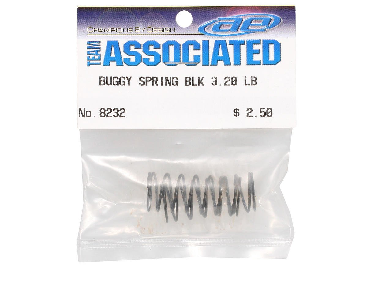 Team Associated Front Short Buggy Spring (Black - 3.20lb) (2)