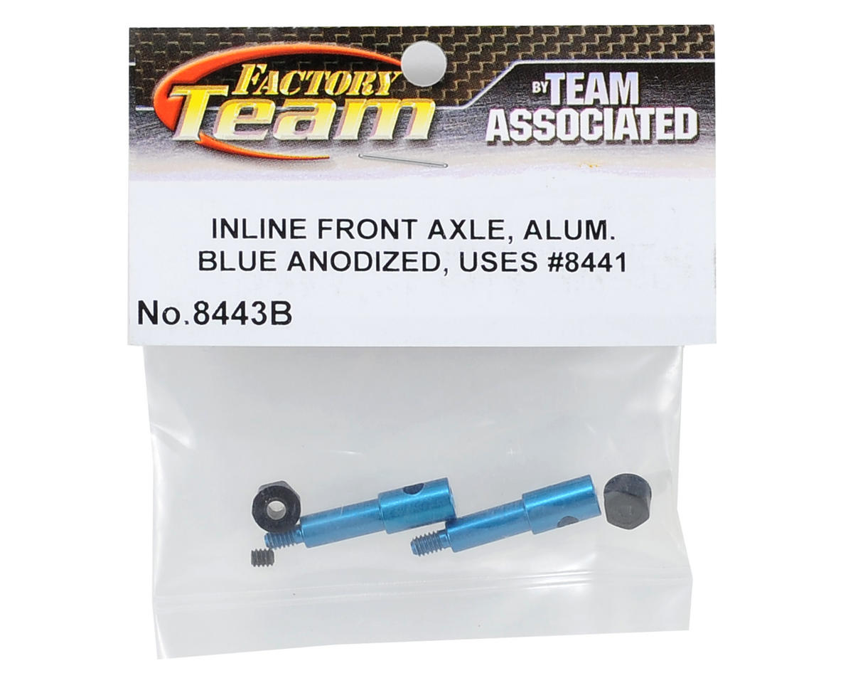 Team Associated Factory Team Aluminum Inline Front Axle (Blue)