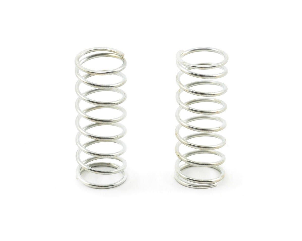 Team Associated VCS Shock Spring Set (Silver - 8.0 Soft) (2)