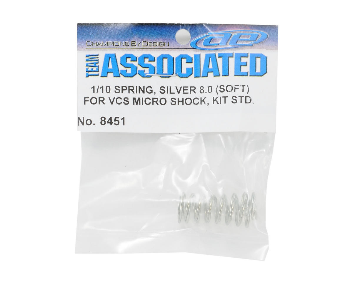 VCS Shock Spring Set (Silver - 8.0 Soft) (2) by Team Associated