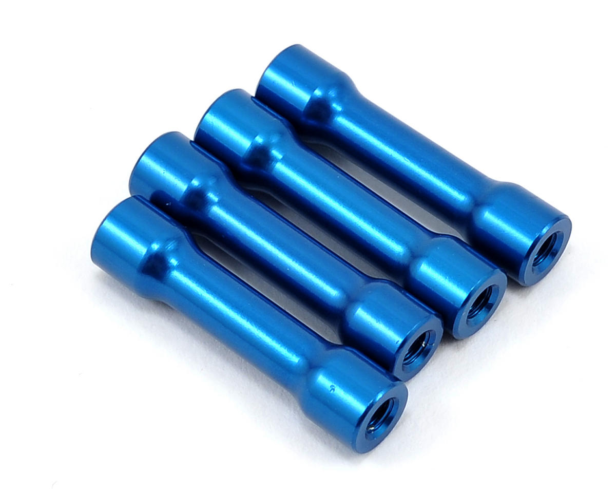 Factory Team Chassis Brace Standoff (Blue) (4) by Team Associated