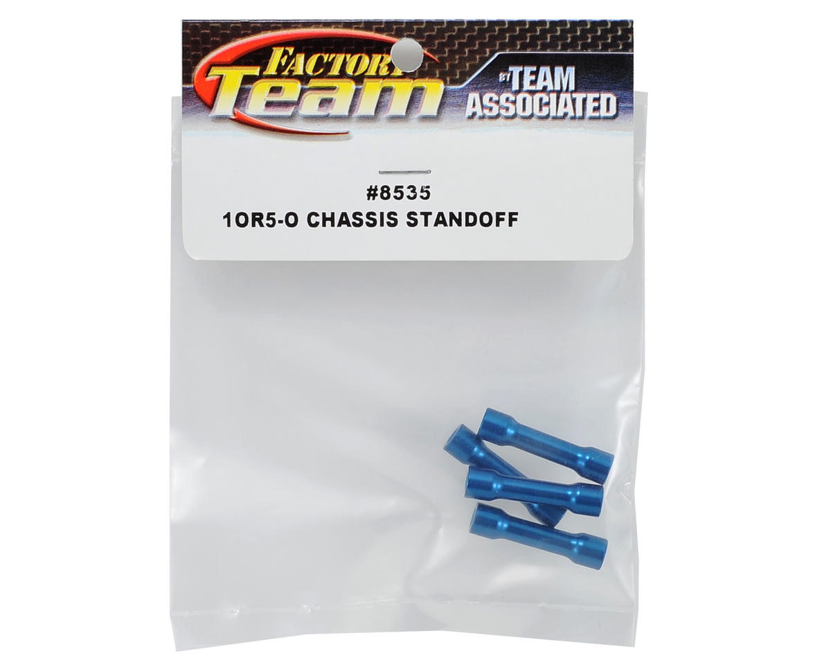 Team Associated Factory Team Chassis Brace Standoff (Blue) (4)