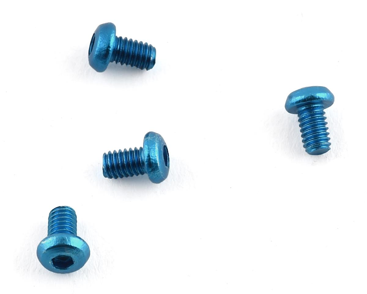 Team Associated RC18MT 2.5x4mm Aluminum Button Head Screws (Blue) (4)