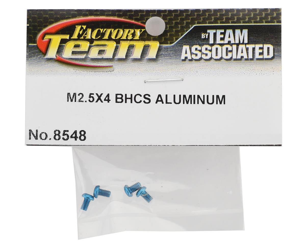 Team Associated 2.5x4mm Aluminum Button Head Screws (Blue) (4)