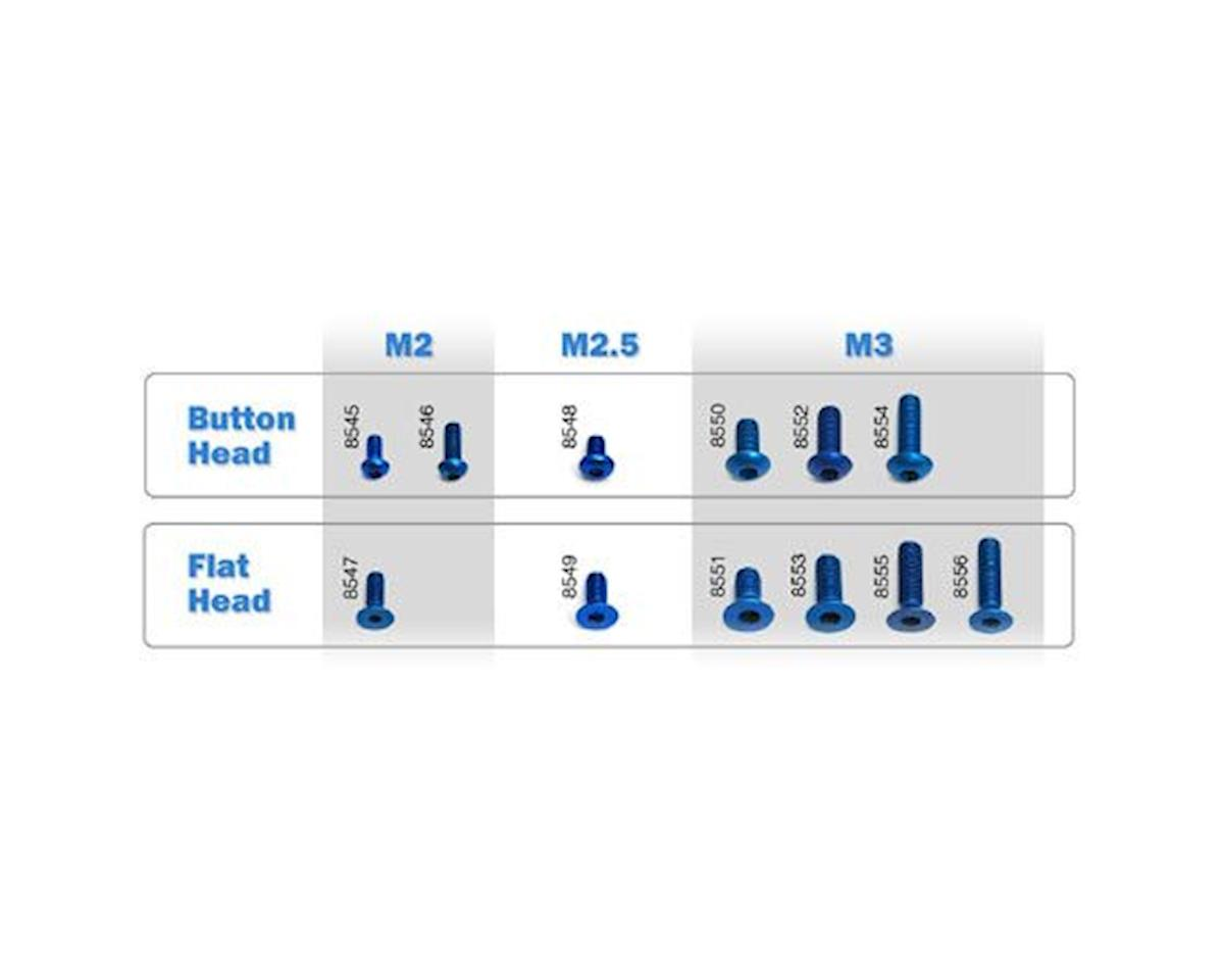 Team Associated 3x6mm Aluminum Button Head Hex Screws (Blue) (6)