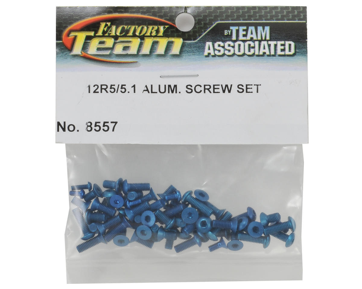 Factory Team Aluminum Screw Kit (Blue) (12R5/R5.1) by Team Associated