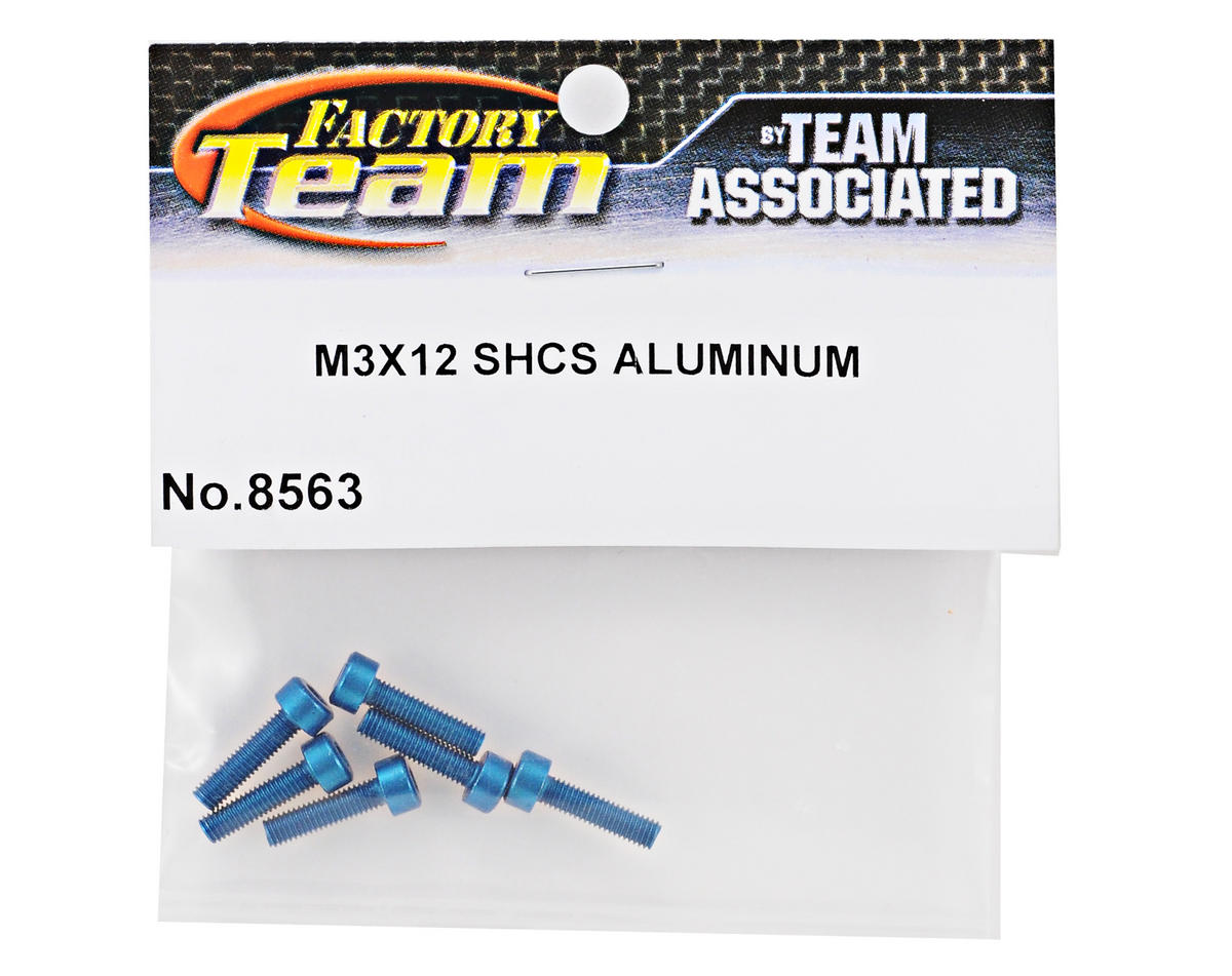 Team Associated Factory Team Aluminum 3x12mm Cap Head Screw (6)
