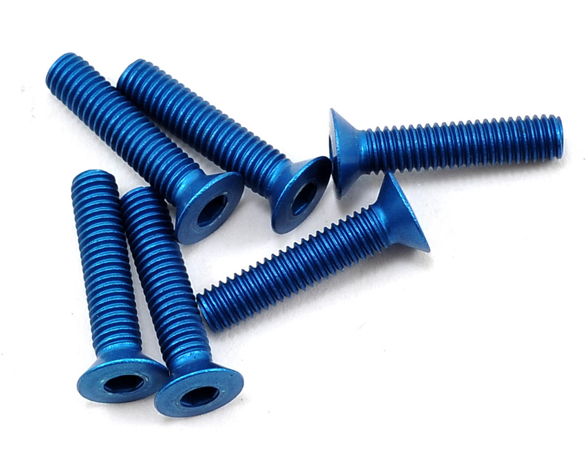 Team Associated Factory Team Aluminum 3x14mm Flat Head Screw (6)