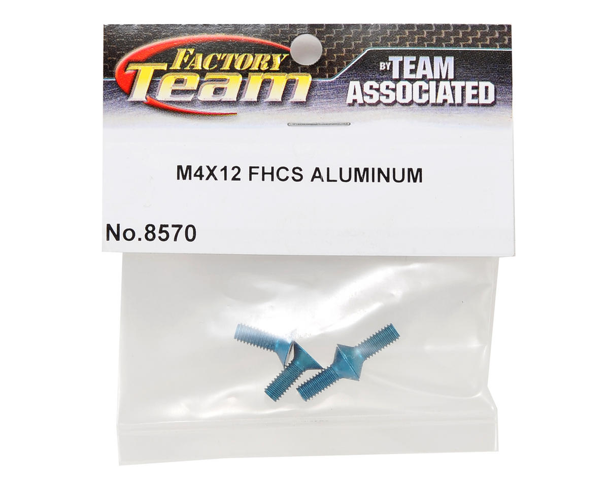 Team Associated Factory Team Aluminum 4x12mm Flat Head Screw (4)